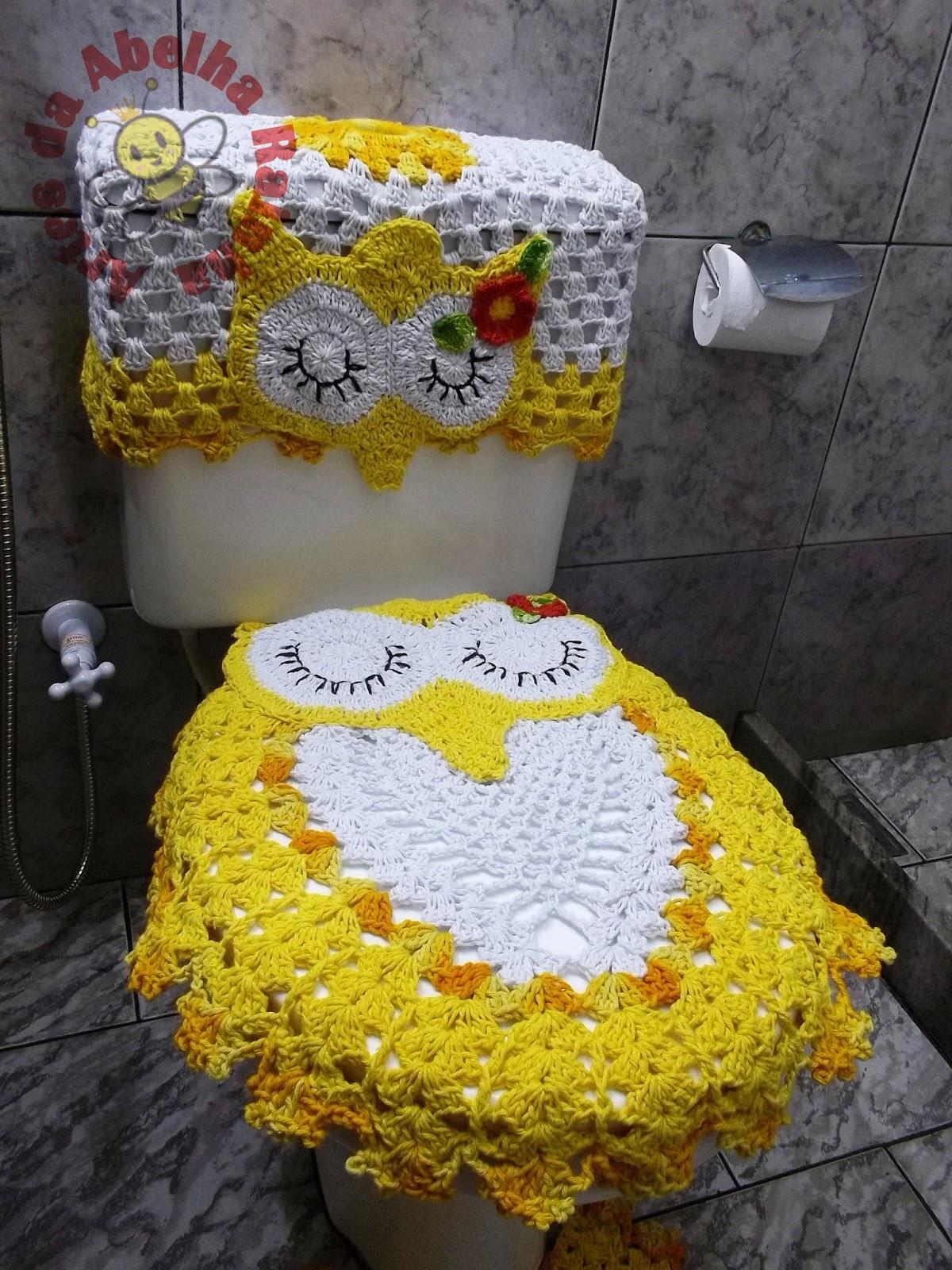 Abelha Rainha: Jogo de banheiro corujas dorminhocas (amarelo e branco #B49317 1200x1600 Banheiro Amarelo E Branco