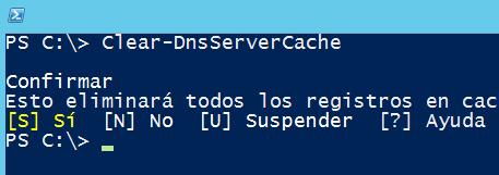 Ver y limpiar la caché del DNS Server