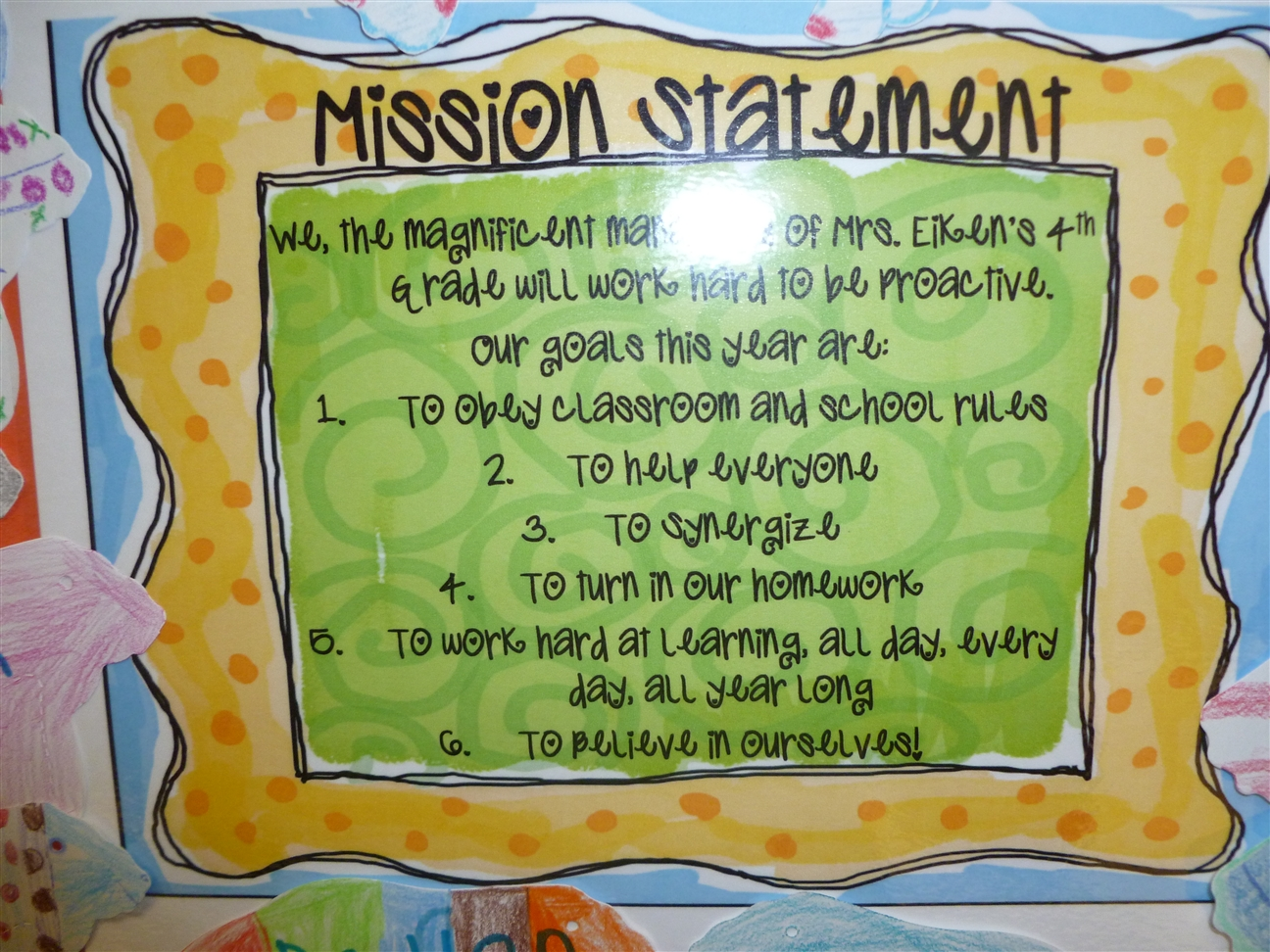 Mission statement 4th grade frolics for 7 habits decorations