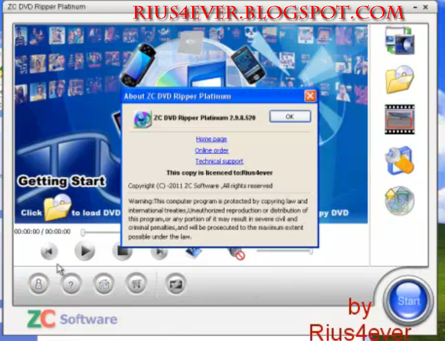 ZC DVD Ripper is dvd ripper all in one solution program, that's Catego