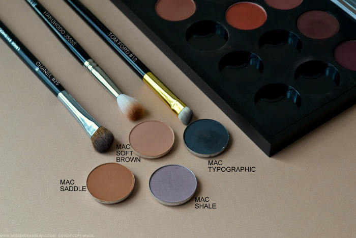 MAC Neutral Eyeshadows - Shale Saddle Typographic Soft Brown
