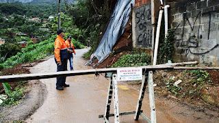 Defesa Civil de Teresópolis percorre locais afetados pelas chuvas e orienta população