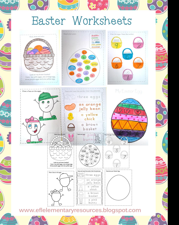 Efl elementary teachers easter for elementary ell for Easter crafts for elementary students