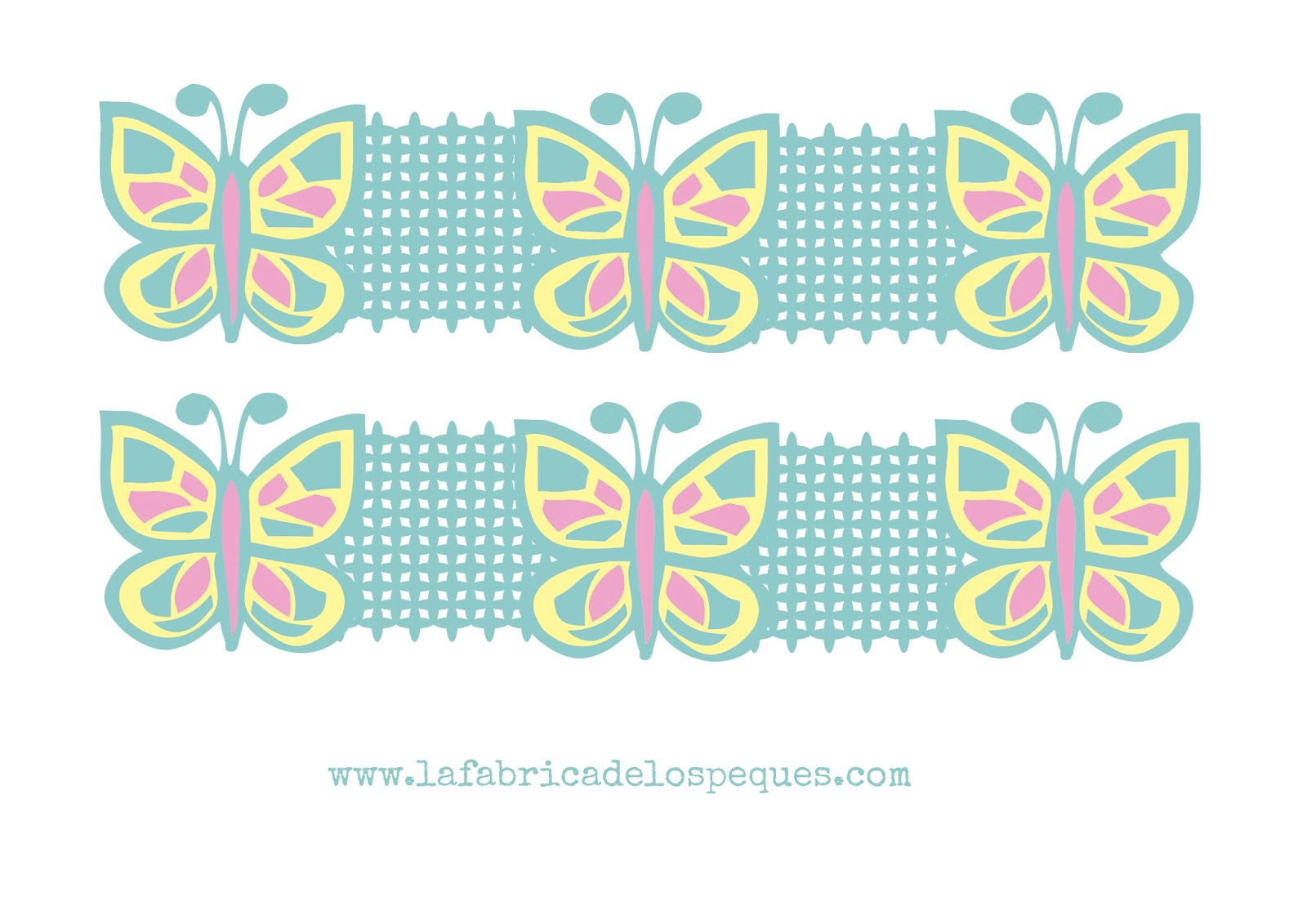 Imprimibles y moldes gratis: cenefas infantiles para decorar