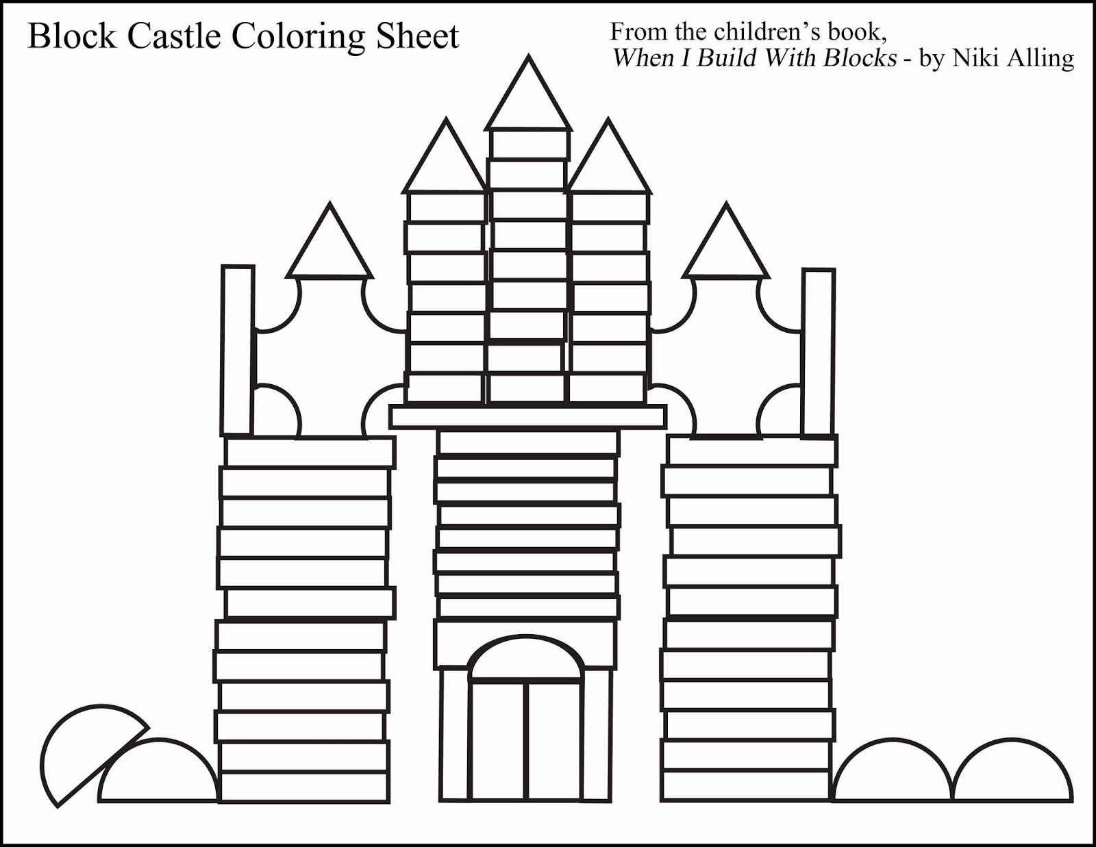 coloring pages building block - photo#26