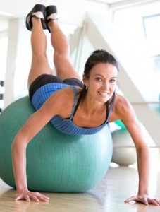 Use the Exercise Ball to Get Abs--and Tone Up Another Body Part Besides your Flat Belly images