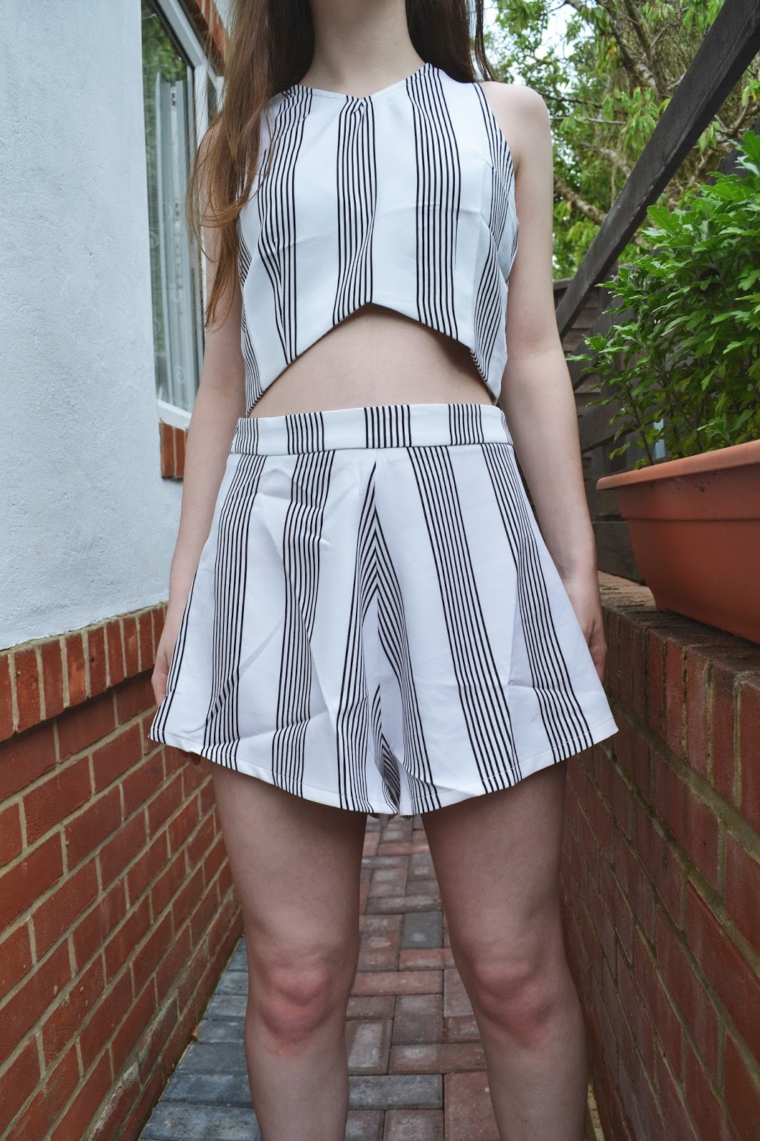 misspap georgia black white stripe two piece