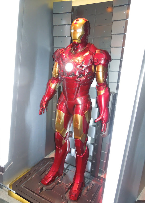 Battle damaged Iron Man mark III armour