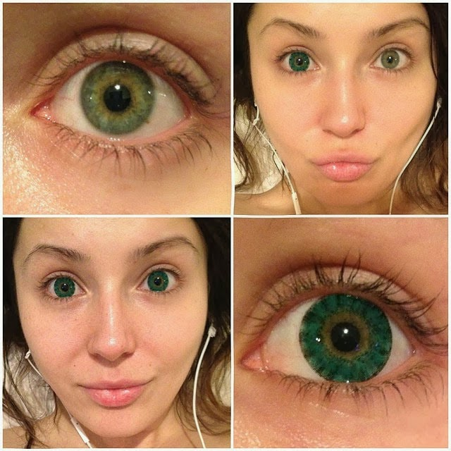 I.Fairy Super Crystal Green colored contacts