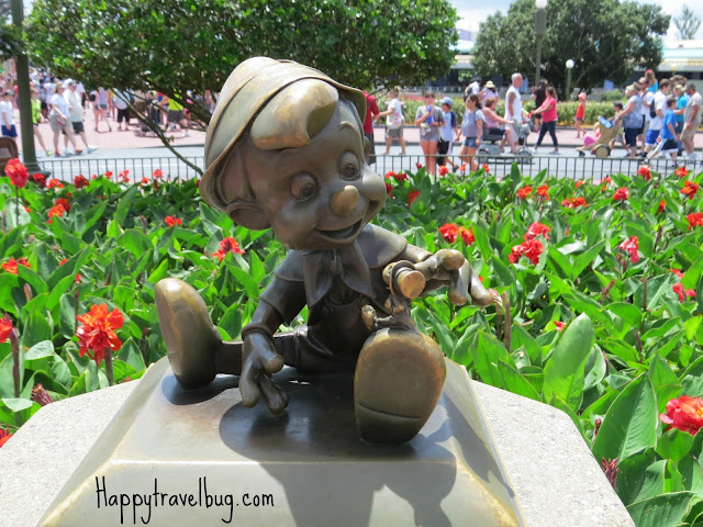 Pinocchio sculpture at Disney World