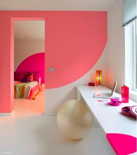C mo pintar las paredes con colores vivos decorando mejor - Como pintar las paredes ...