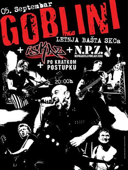 Koncert Goblina u bašti SKC-a