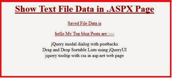 ASP .NET Read a text file by C#