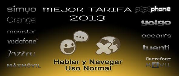 Comparativa Tarifas Móviles de Menos de 25€ (Hablar y Navegar - Uso Normal)