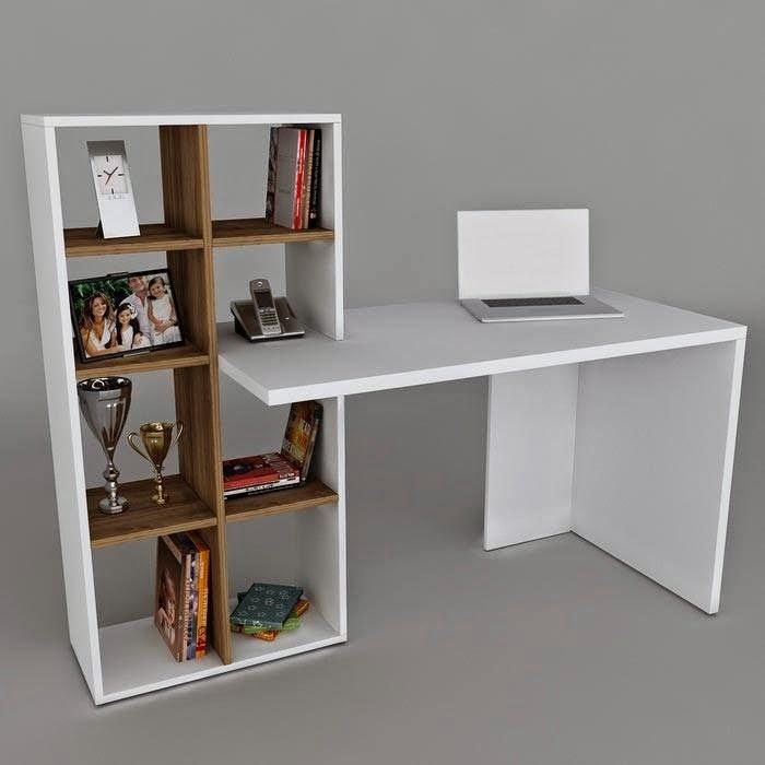 Image gallery escritorios modernos - Libreros de madera modernos ...