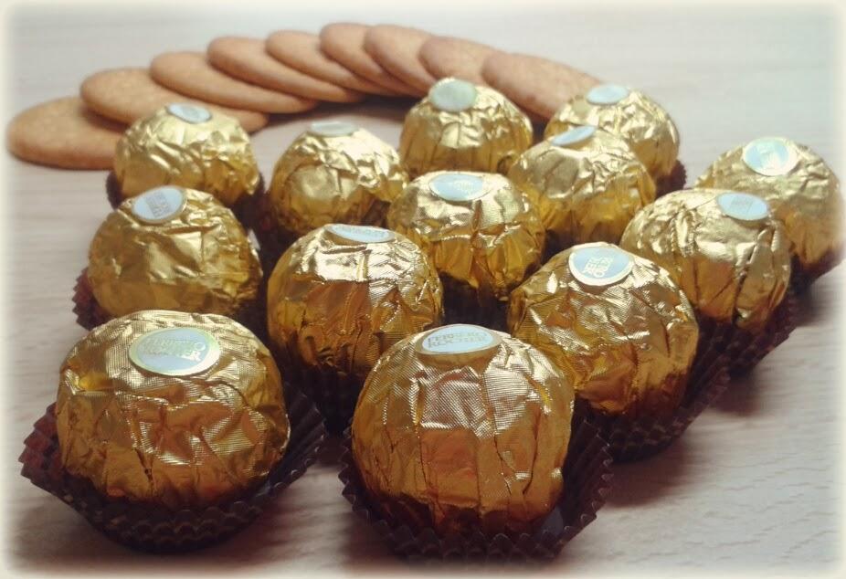 Tarta helada de Ferrero Rocher