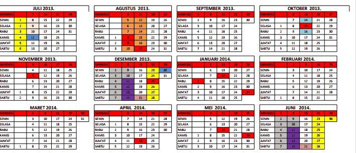 Download Kalender Pendidikan Tahun Ajaran 2013/2014