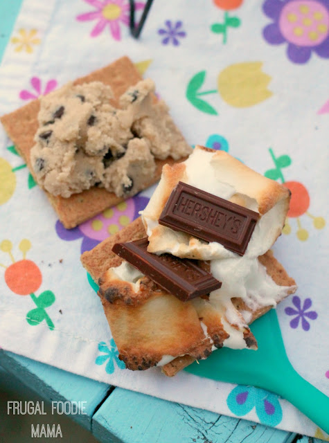 Cookie dough spread s'mores will become a new summertime favorite! #LetsMakeSmores #ad