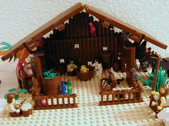 easy to make nativity creche lego educational resource. Black Bedroom Furniture Sets. Home Design Ideas