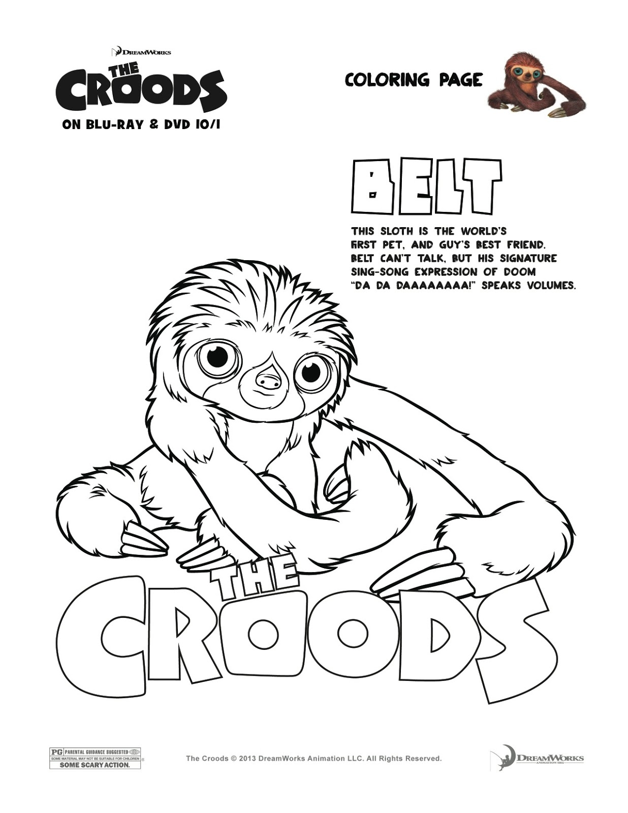 In Honor Of The Release Croods To Blu Ray And DVD On October 1st Enjoy These Fun Activities A Video Clip Entitled Croodaceous Moments