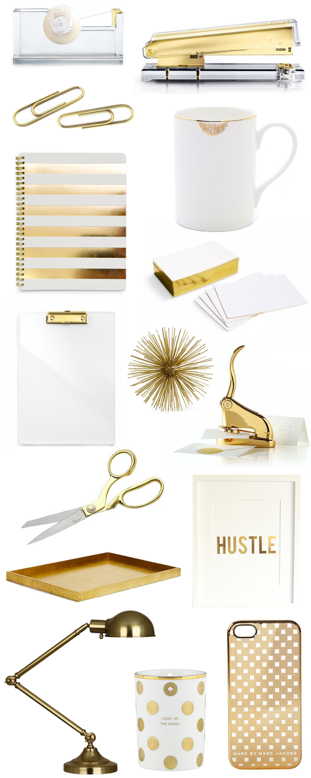 gold office supplies and accessories beautiful bright office