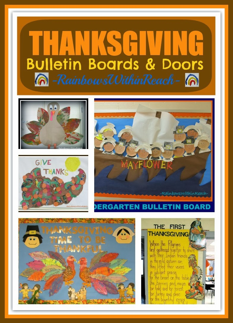 Rainbowswithinreach Thanksgiving Fall Bulletin Boards And Doors For School