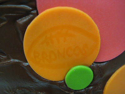 Polka Dot Cake - Close-Up of Broncos Watermark