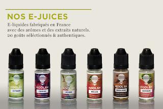 Sélection de e-liquides français