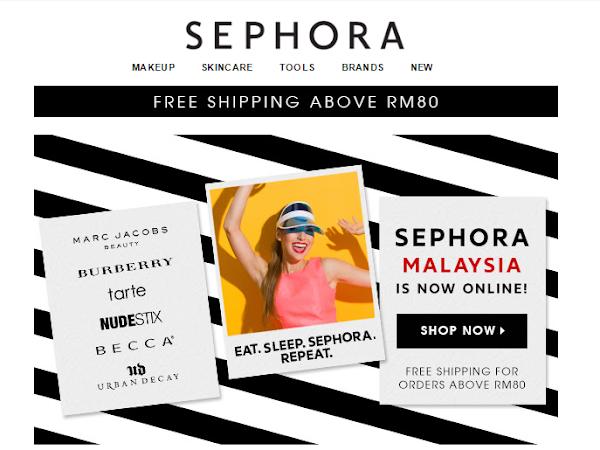 BEAUTY : Sekarang dah boleh beli barangan Sephora secara online! - Sephora.my