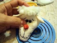 Ovelhas feitas de fuxico dia das crianças