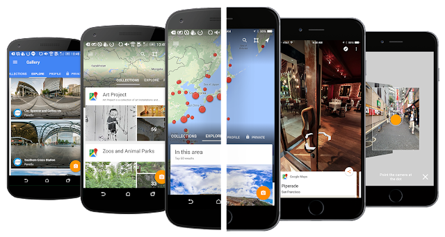 Street View pour Android et iOS