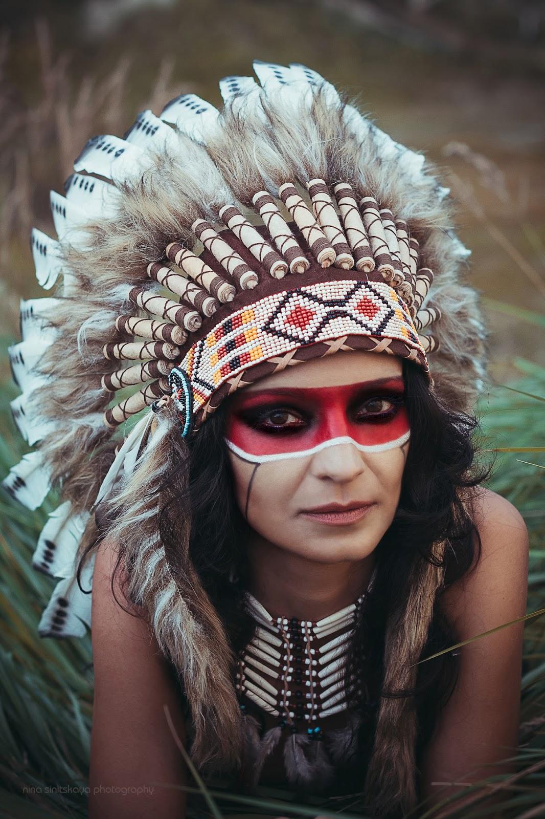 Фото девушка в образе индианки 15 фотография