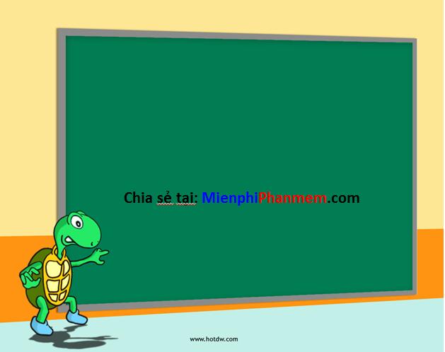 Hình nền PowerPoin rùa bảng phấn