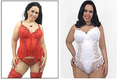 Imagens de modelos de Lingerie para Gordinhas