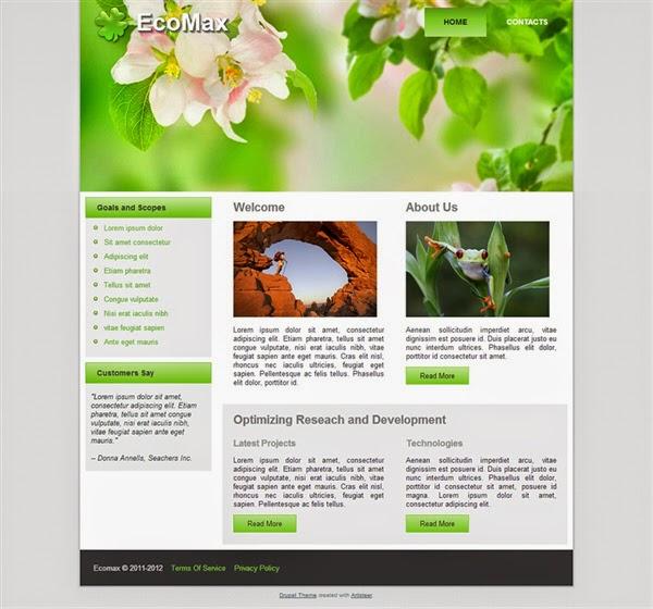 Ecomax - Free Drupal Theme