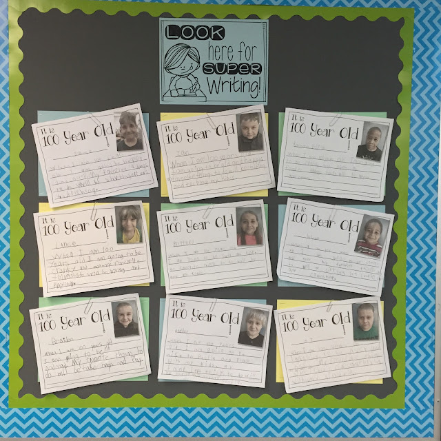 A 100 day of school activity and writing that uses technology and has everyone laughing and smiling.