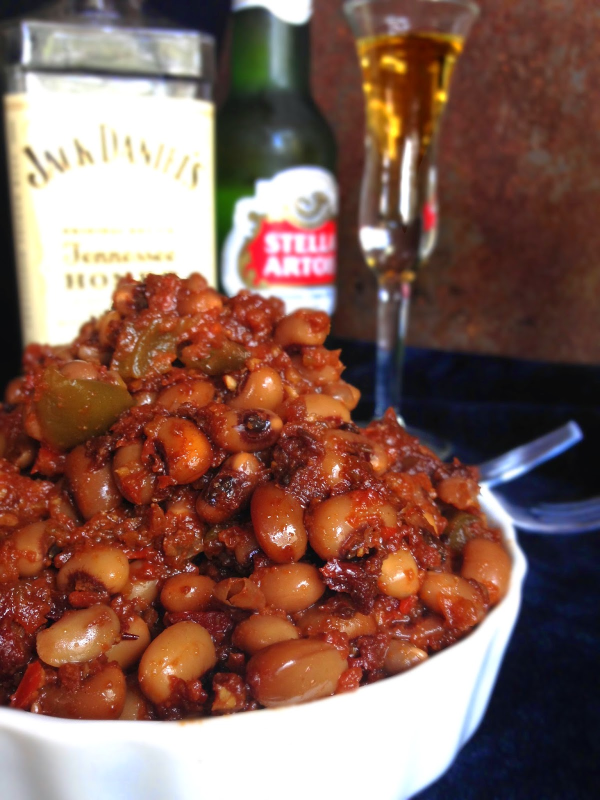 Baked Barbecue Black Eyed Peas