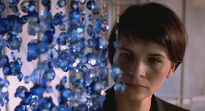 Juliette Binoche as widow Julie, Blue Chandelier, Directed by Krzysztof Kieslowski