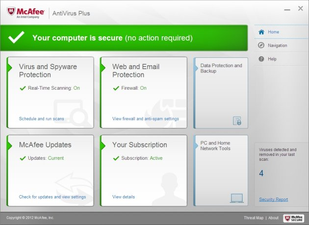 Download McAfee Antivirus 2013  full version with key