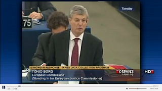 video link to European Parliament Debate on US NSA Data Surveillance