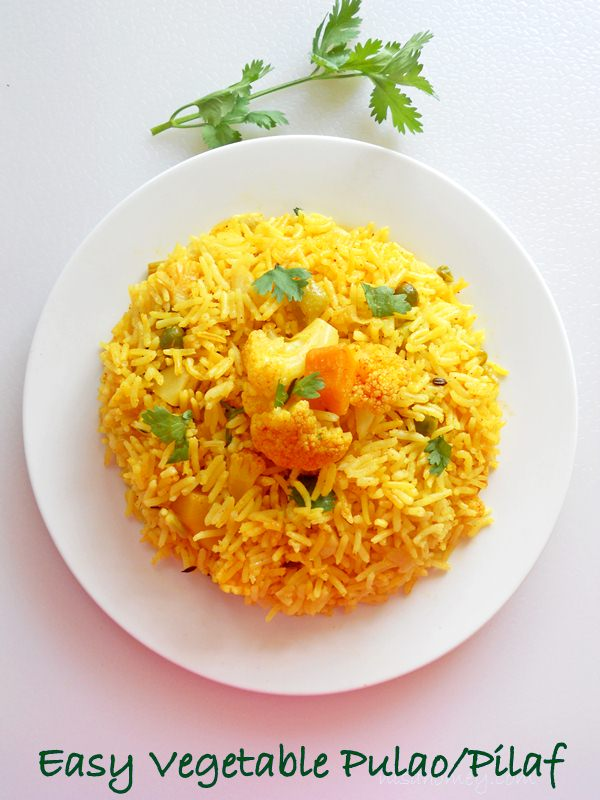 Cooking Is Easy: Easy Vegetable Pulao In Pressure Cooker /Tahiri Pulao