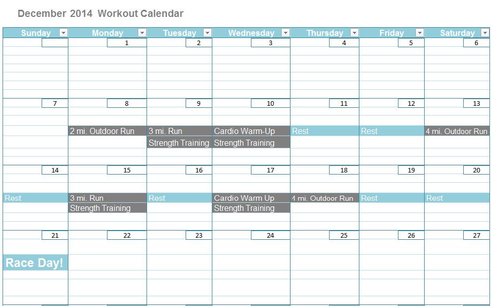 Top Knots & Jots fitness calendar