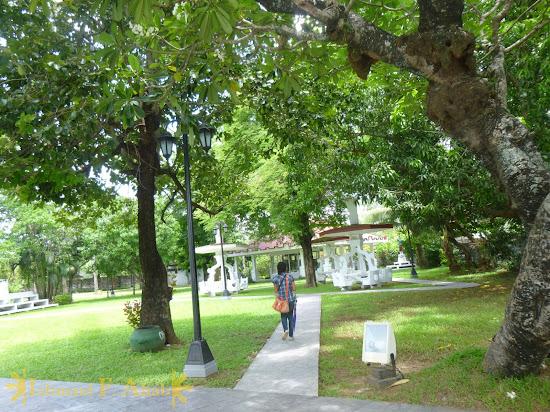 Garden outside of Aguinaldo Shrine