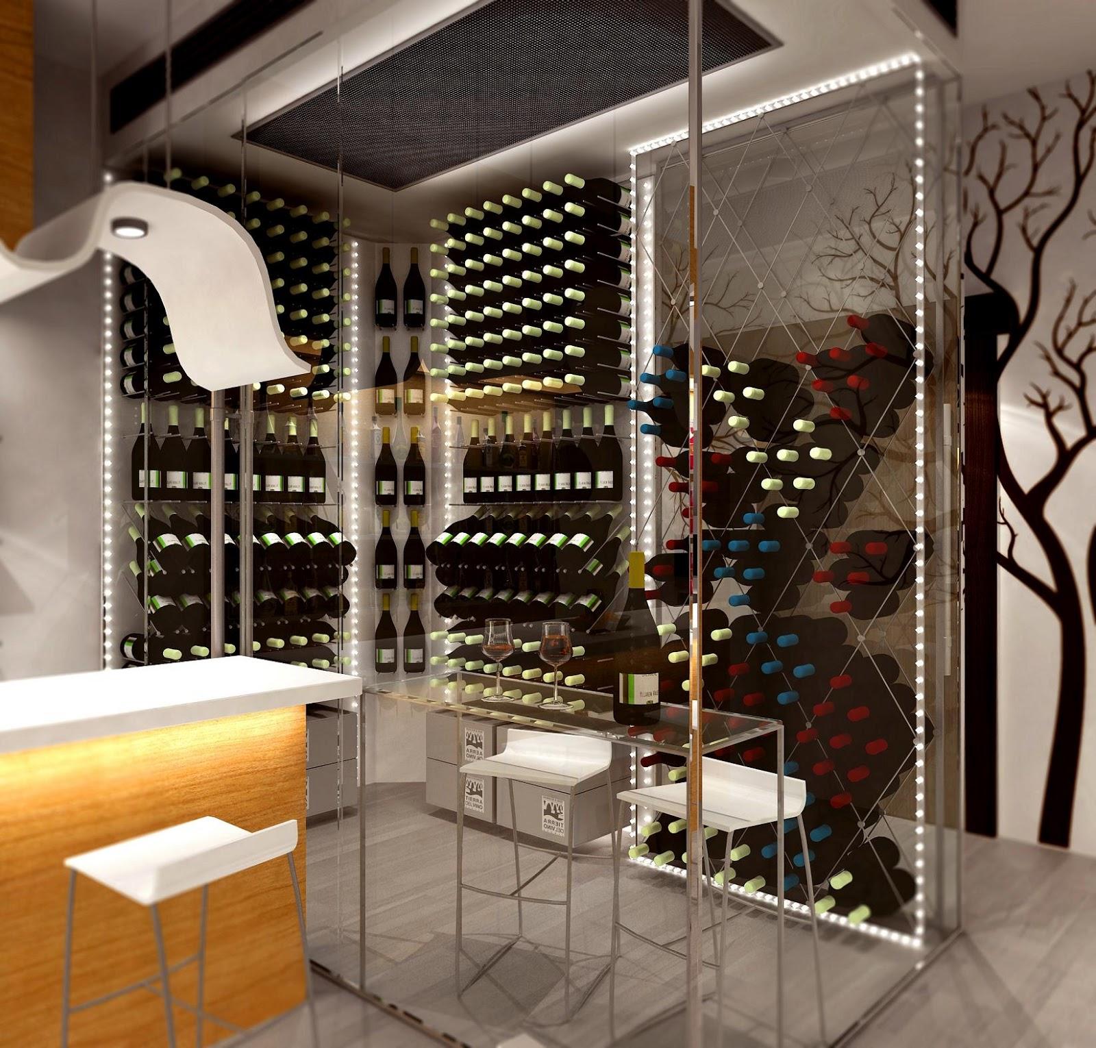 Dise o de cavas pt 2 interiores por paulina aguirre - Cavas de vino para casa ...