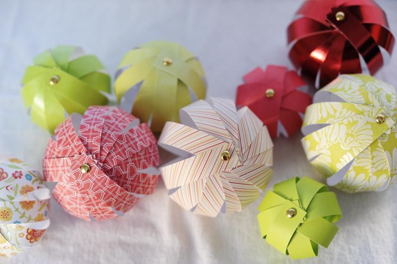 Rust sunshine 12 days of christmas ornaments day 1 paper bulbs - Fabriquer des decorations de noel en papier ...