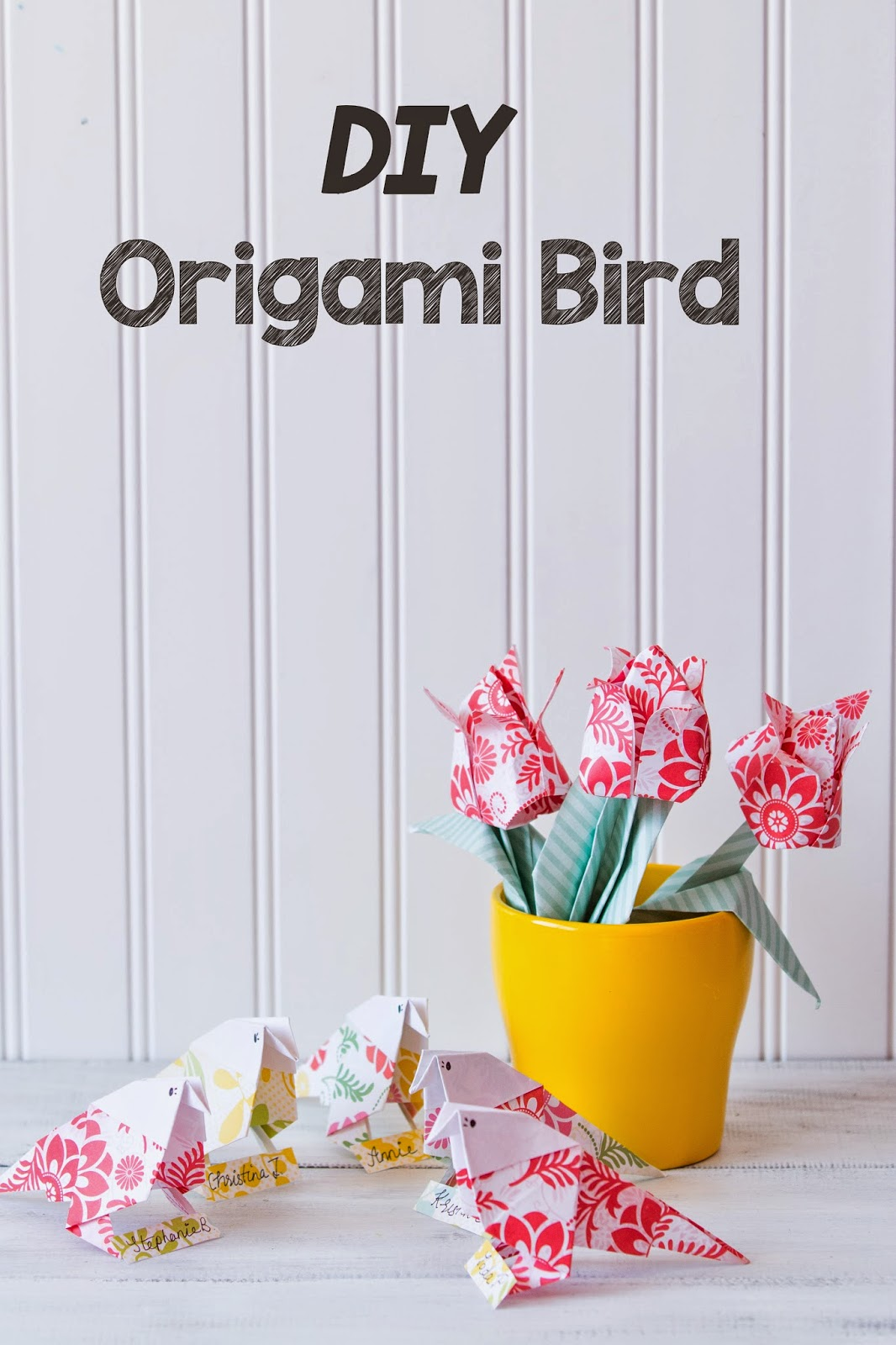How to make an origami paper bird handmade paper flowers by origami bird paper craft jeuxipadfo Choice Image