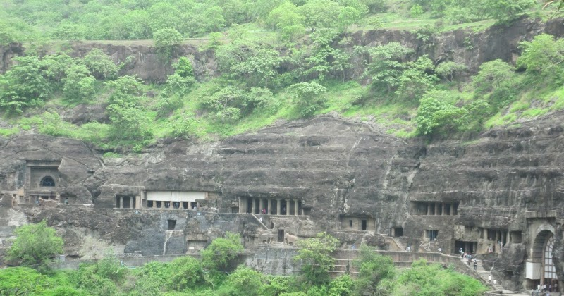How ancient Buddhist rock cut temples of Maharashtra were constructed?