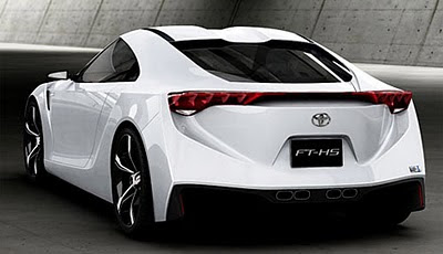 Cool White Sport Cars Designs Toyota FTHS Hybrid  Fast Sports Cars