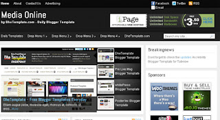 Media Online blogspot template