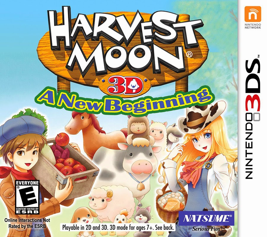 3DS Harvest Moon 3D A New Beginning Cover
